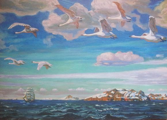 Сочинение по картине Рылова «В голубом просторе» (3 класс)
