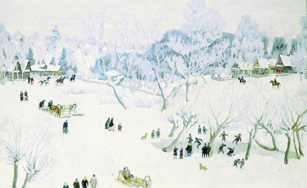 Сочинения по картине Юона «Волшебница зима» (4 класс)