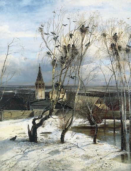 Сочинение по картине Саврасова «Грачи прилетели» (4 класс)