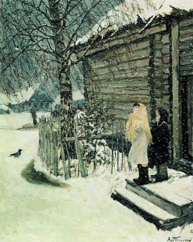 Сочинение по картине А. А. Пластова «Первый снег» (4 класс)
