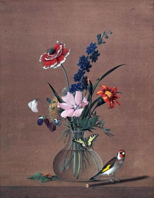 Сочинение по картине Толстого «Букет цветов, бабочка и птичка» (2 класс)