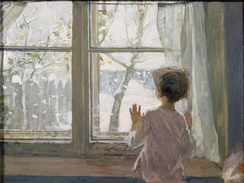 Сочинение по картине Тутунова «Зима пришла. Детство» (2 класс)