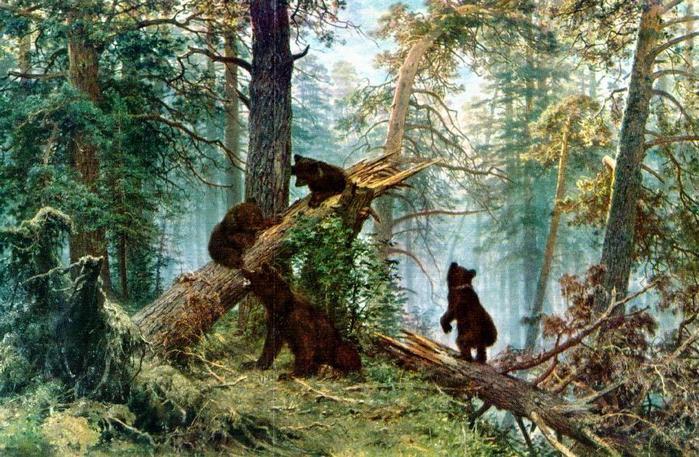 Сочинения по картине Шишкина «Утро в сосновом лесу» (2 класс)