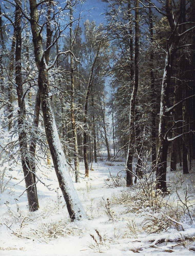 Сочинение по картине Шишкина «Зима в лесу» (3 класс)