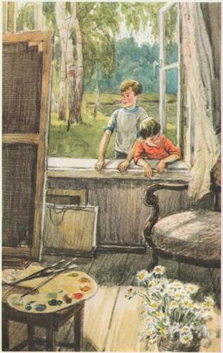 Сочинение по картине Е. Сыромятниковой «Первые зрители» (6 класс)