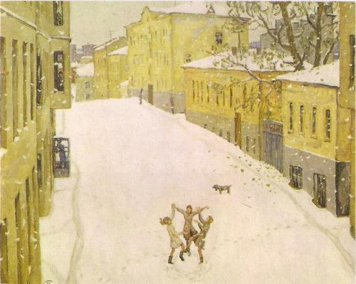 Сочинение по картине Попова «Первый снег» (7класс)