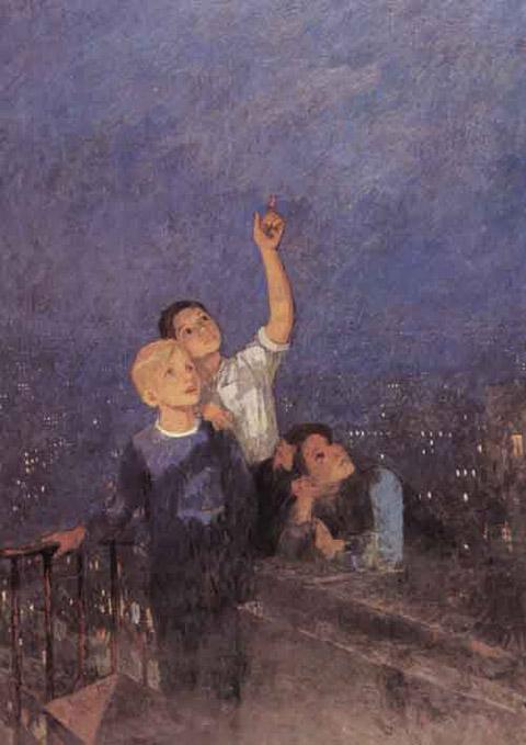 Сочинение по картине Решетникова «Мальчишки» (5 класс)