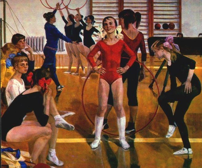 Сочинение по картине Сайкиной «Детская спортивная школа» (7 класс)