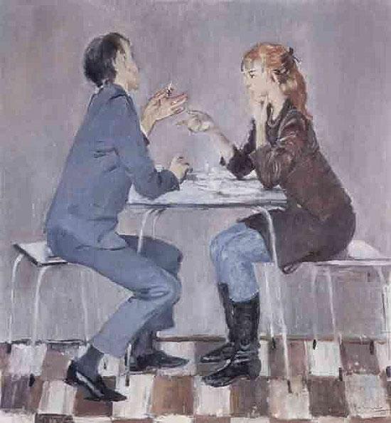 Сочинение по картине Ю. Пименова «Спор» (8 класс)