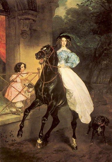 Сочинение по картине Брюллова «Всадница» (8 класс)