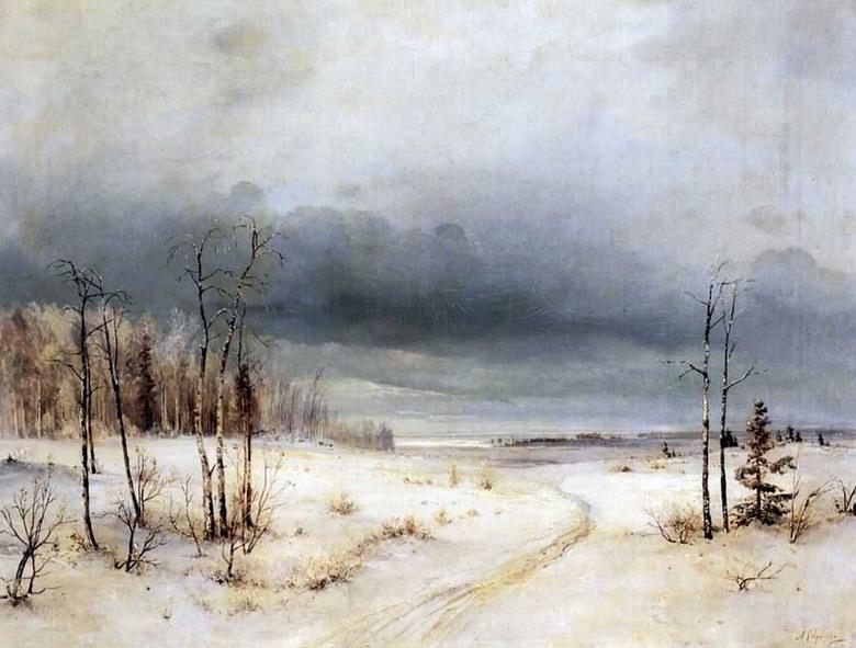 Сочинение по картине Саврасова «Зима» (3 класс)